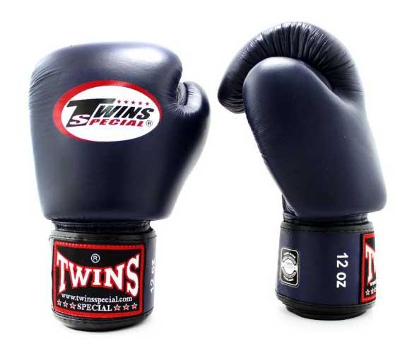 Navy Twins Boxing Gloves - Velcro Wrist - Image 2