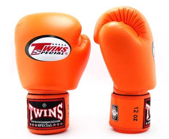 Orange Twins Boxing Gloves - Velcro Wrist - Image 1