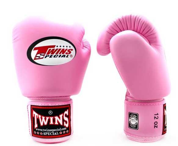 Pink Twins Boxing Gloves - Velcro Wrist - Image 1