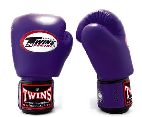 Purple Twins Boxing Gloves - Velcro Wrist - Image 2