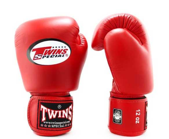 Red Twins Boxing Gloves - Velcro Wrist