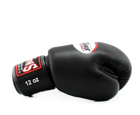 Black Twins Boxing Gloves - Velcro Wrist - Image 3