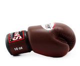 Dark-Brown Twins Boxing Gloves - Velcro Wrist - Image 3