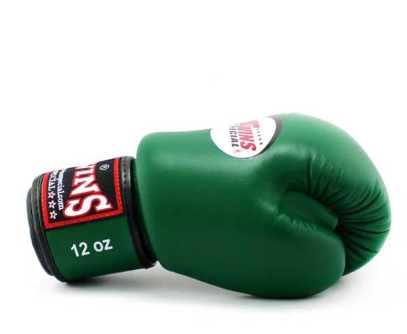 Dark-Green Twins Boxing Gloves - Velcro Wrist - Image 3