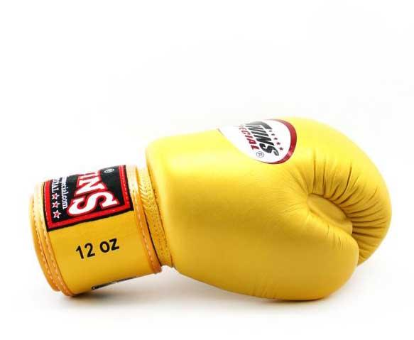 Gold Twins Boxing Gloves - Velcro Wrist - Image 3