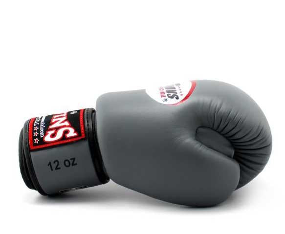 Grey Twins Boxing Gloves - Velcro Wrist - Image 3