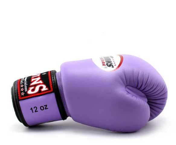 Twins Boxing Gloves- Premium Leather w/ Velcro - Bold Colors - Red, Brown, Lime Green, Blue, Lavender
