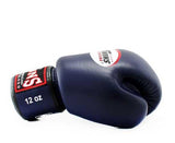 Navy Twins Boxing Gloves - Velcro Wrist - Image 3