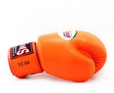 Orange Twins Boxing Gloves - Velcro Wrist - Image 3