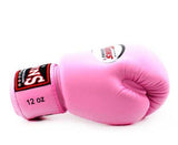 Pink Twins Boxing Gloves - Velcro Wrist - Image 3