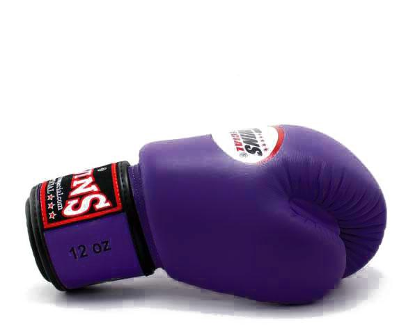 Purple Twins Boxing Gloves - Velcro Wrist - Image 3