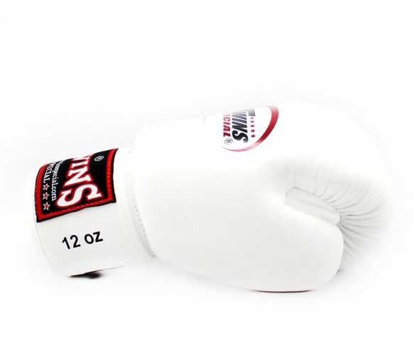 White Twins Boxing Gloves - Velcro Wrist - Image 3