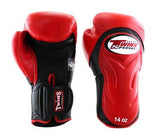 Twins Black-Red Dual Color Boxing Gloves - Extended Cuff Velcro Wrist