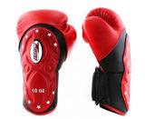 Twins Black-Red Dual Color Boxing Gloves - Extended Cuff Velcro Wrist - Image 2