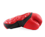 Twins Black-Red Dual Color Boxing Gloves - Extended Cuff Velcro Wrist - Image 3