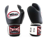 Twins White-Black Dual Color Boxing Gloves - Velcro Wrist - Image 2