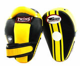 Twins Black-Yellow Thai Pads- Kicking, MMA, Muay Thai - Image 1