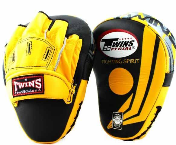 Twins Yellow-Black Signature Focus Mitts- Punching, Boxing, MMA, Muay Thai - Image 1
