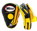Twins Yellow-Black Signature Focus Mitts- Punching, Boxing, MMA, Muay Thai - Image 2