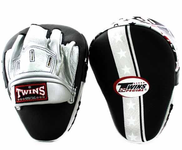 Twins Silver Signature Focus Mitts- Punching, Boxing, MMA, Muay Thai - Image 1