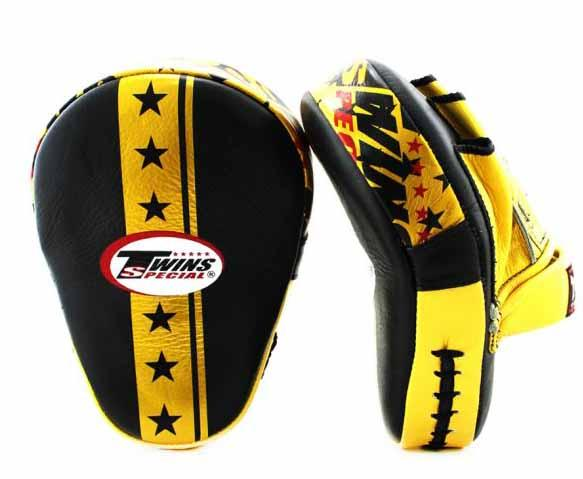 Twins Gold Signature Focus Mitts- Punching, Boxing, MMA, Muay Thai - Image 2