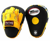 Twins Black-Yellow Focus Mitts- Punching, Boxing, MMA, Muay Thai - Image 1