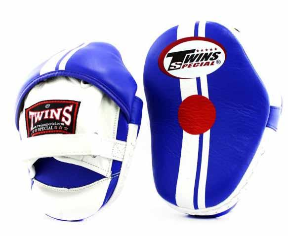 Twins Blue-White Focus Mitts- Punching, Boxing, MMA, Muay Thai - Image 1