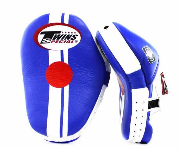 Twins Blue-White Focus Mitts- Punching, Boxing, MMA, Muay Thai - Image 2