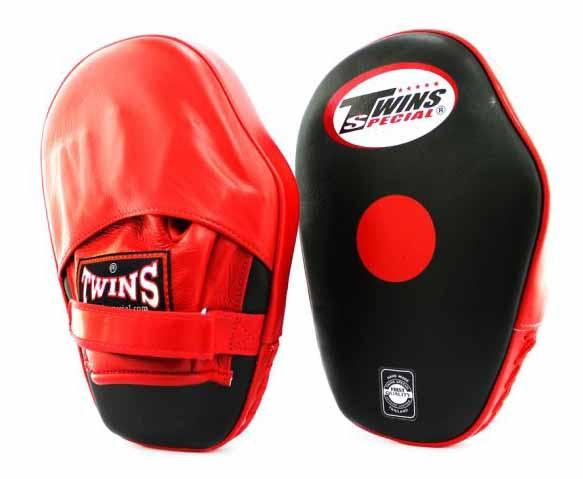 Twins Black-Red Focus Mitts- Punching, Boxing, MMA, Muay Thai