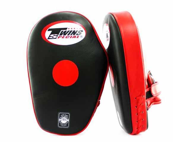 Twins Black-Red Focus Mitts- Punching, Boxing, MMA, Muay Thai - Image 2