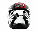 Twins Silver-Black Signature Headgear- Boxing, MMA, Muay Thai - Image 1