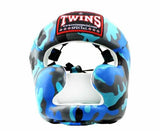 Twins Blue Signature Headgear- Boxing, MMA, Muay Thai - Image 1