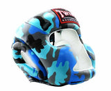 Twins Blue Signature Headgear- Boxing, MMA, Muay Thai - Image 2
