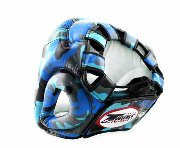 Twins Blue Signature Headgear- Boxing, MMA, Muay Thai - Image 3
