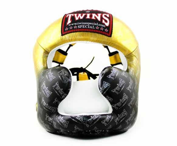 Twins Gold Signature Headgear- Boxing, MMA, Muay Thai - Image 1