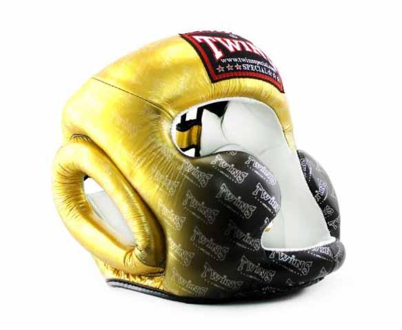 Twins Gold Signature Headgear- Boxing, MMA, Muay Thai - Image 2