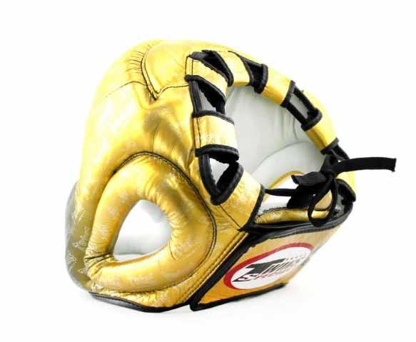 Twins Gold Signature Headgear- Boxing, MMA, Muay Thai - Image 3