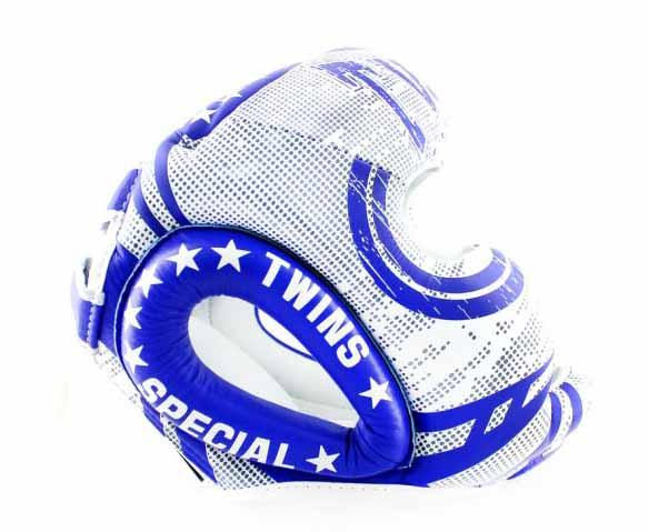 Twins White-Blue Signature Headgear- Boxing, MMA, Muay Thai - Image 2