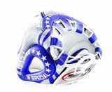 Twins White-Blue Signature Headgear- Boxing, MMA, Muay Thai - Image 3
