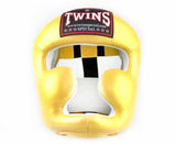 Twins Gold Headgear- Boxing, MMA, Muay Thai
