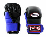 Twins Black-Blue Signature Training Gloves- Punching, Boxing, Martial Arts, MMA, Muay Thai
