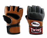 Twins MMA Gloves- Twins Boxing, MMA & Muay Thai - Brown, Black