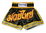 Twins Muay Thai Shorts - Black and Gold