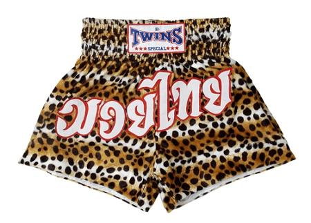Twins Muay Thai Shorts - Leopard Pattern
