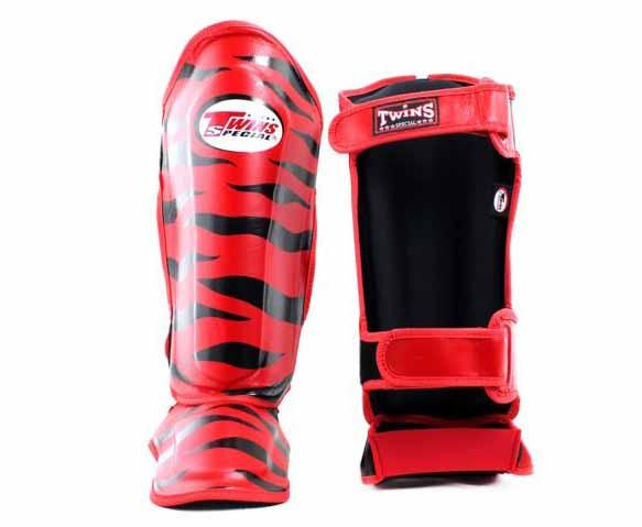 Twins Black-Red Signature Shin Guards- Kicking, Martial Arts, MMA, Muay Thai - Image 2