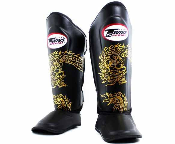 Twins Gold-Black Signature Shin Guards- Kicking, Martial Arts, MMA, Muay Thai