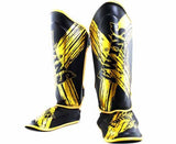 Twins Shin Guards - Signature - Twins Muay Thai, Kicking, Martial Arts & MMA - TW2 - Gold, Black
