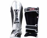 Twins Silver-Black Signature Shin Guards- Kicking, Martial Arts, MMA, Muay Thai - Image 2