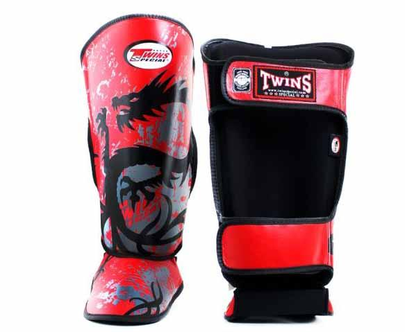 Twins Red Signature Shin Guards- Kicking, Martial Arts, MMA, Muay Thai - Image 2