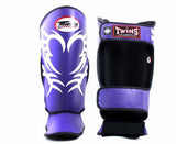 Twins White-Purple Signature Shin Guards- Kicking, Martial Arts, MMA, Muay Thai - Image 2